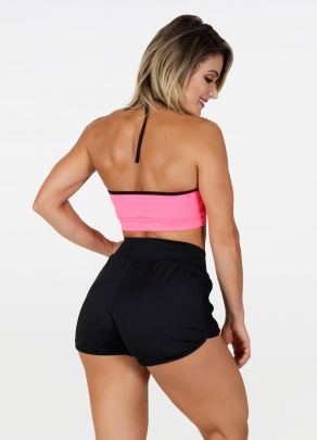 Cropped Lívia Rosa Neon