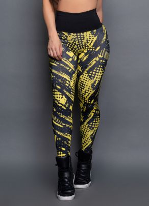 Calça Sublimada Yellow