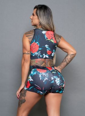 Top Sublimado Floral Tela