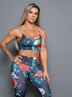 Top Sublimado Floral Alça